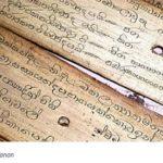 Theravada palmbladeren Pali Canon (met tekst)